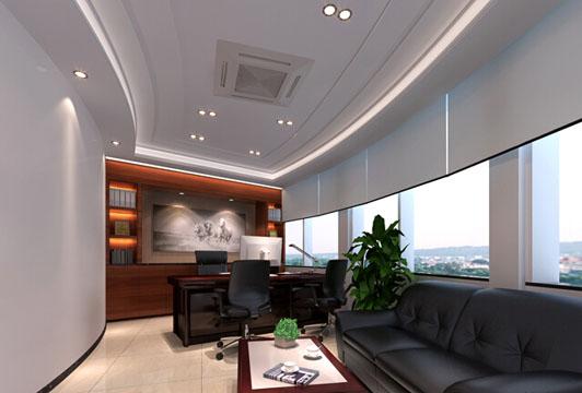 案例介绍—某高级行政楼办公室装修装饰经理室效果图