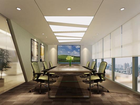 办公室装修设计接洽谈区效果图