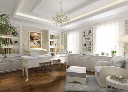 翰翔建筑分享经典欧式办公室装修风格案列效果图