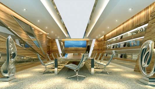 灯具行业公司办公室装修设计会议区效果图