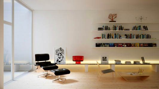 这也是极简风格办公室装修设计的一个优点