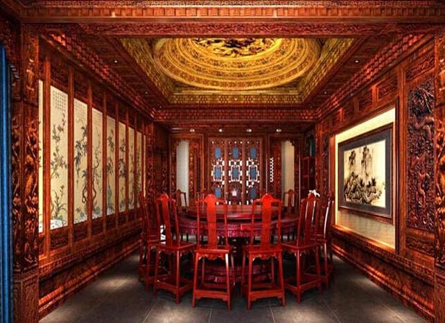 中式餐饮设计装修风格介绍图片