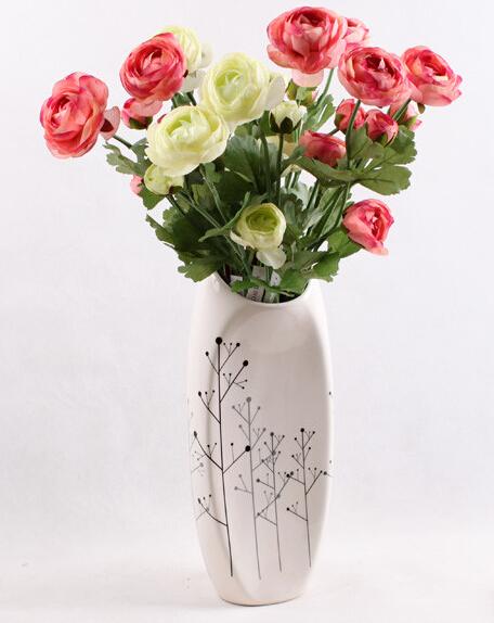 适合图案形体角隅设计花瓶